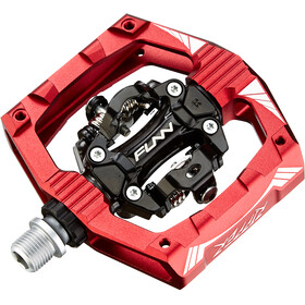FUNN Ripper Pedals with Two-Side Clip, red